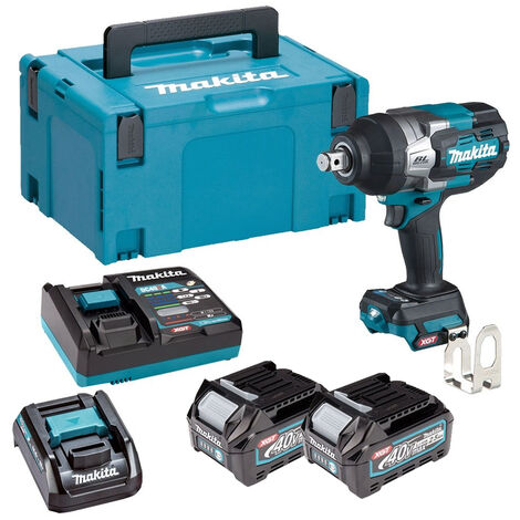 """Makita TW001GD202 40V Max XGT Brushless 3/4"""" Impact Wrench Kit with 2 x 2.5Ah Batteries & Charger in Makpac:40V"""