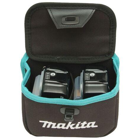 "main image of ""Makita Twin Dual Battery Tool Pouch 199297-7 Belt Loop For Tool Belt"""