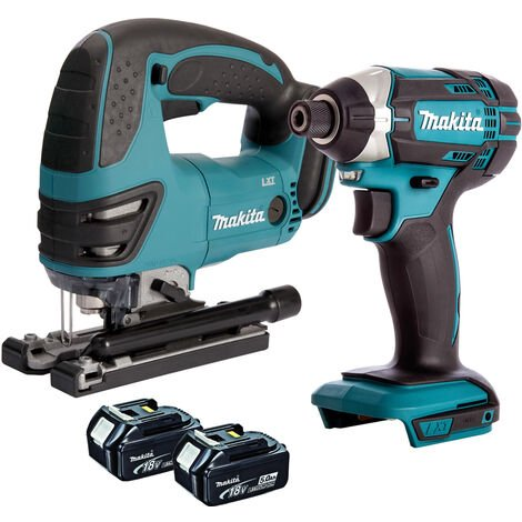 Makita Twin Pack 18V Jigsaw & Impact Driver with 2 x 5.0AH Batteries:18V