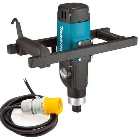 Makita UT1600 Single Variable Speed Paddle/Plaster Mixer up to 80Kg 1500W 110V