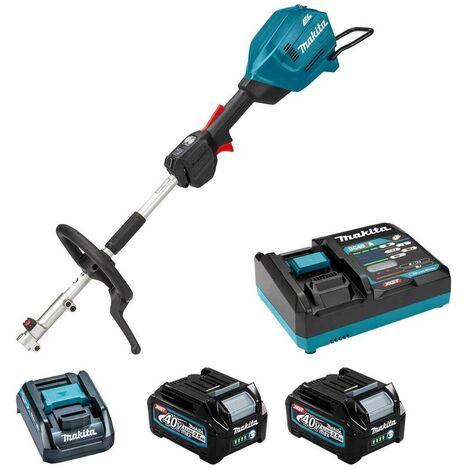 Makita UX01GD201 Brushless 40v XGT Split Shaft Multi Tool Motor + 2 Batteries