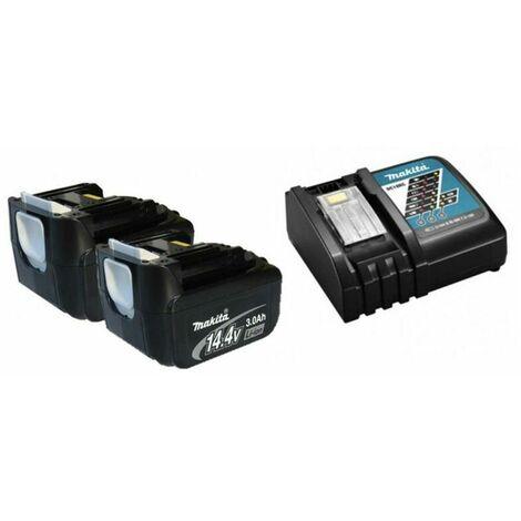 Makita Y-00337 Starterpack 2x 3,0Ah Batterie + Chargeur 14.4V - BL1430 - DC18RC
