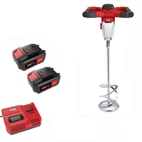 Malaxeur MXE 18.0-EC/5.0 Set FLEX avec pale Ø120 + 2 batteries 5Ah + chargeur - 495972