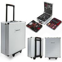 Maleta 416 herramientas acero trolley ruedas caja martillo alicates-GREENCUT