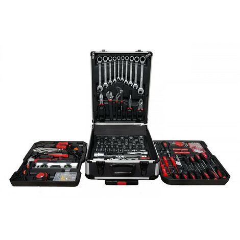 Maleta de herramientas trolley con ruedas 226 piezas compuesto de llaves fijas con carraca