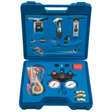 Maleta para frigoristas básica para gases R-22, R134a,R-404A y R-407C