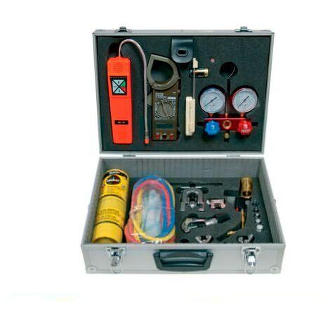 Maleta para frigoristas completa para gases R-22, R134a,R-404A y R-407C
