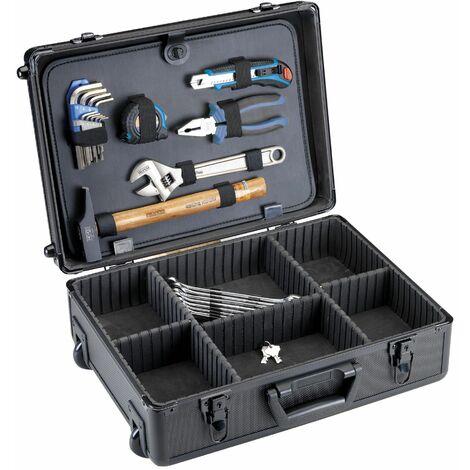Maleta Trolley De Aluminio 320 x 152 x 455mm. + Panel con 9 herramientas.
