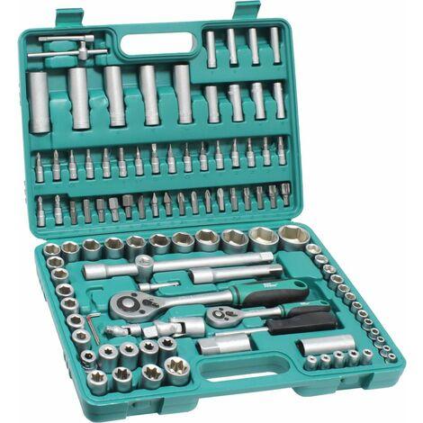 Maletín de 108 llaves 1/4-1/2 de cromo vanadio (Mader 41503)