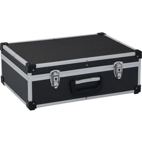 Maletín de herramientas aluminio negro 46x33x16 cm