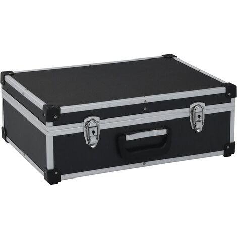 Maletin de herramientas aluminio negro 46x33x16 cm