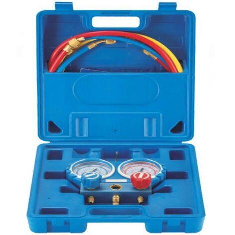 Maletin Manometro Analizador+ Kit Mangueras 150cm R22, R410, R404A, R410A, R407C, R32