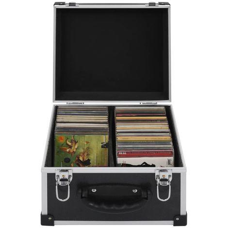 Maletin para 40 CD aluminio y ABS negro