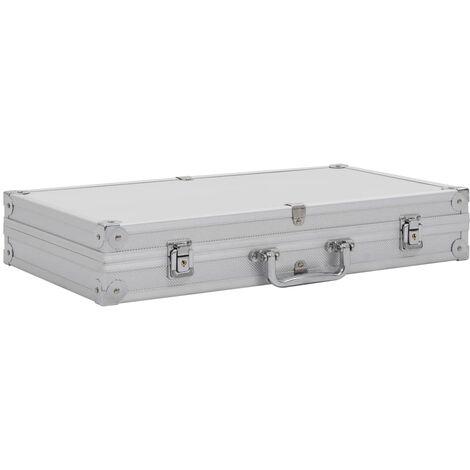 Maletín para armas de aluminio y ABS plateado