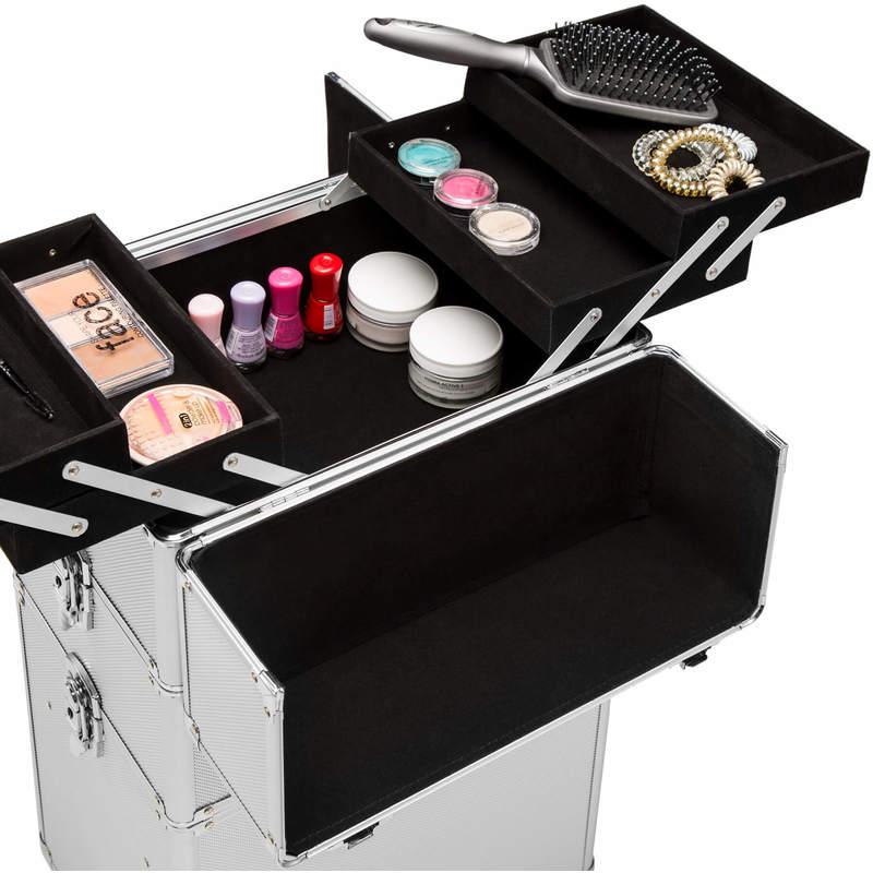 1c6bb4356 Maletín para cosméticos con 3 compartimentos plata - 402563