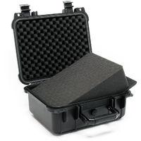 Maletín universal M 35x29,5x15cm Maletín camara Protección equipos Almohadillas ajustables Negro