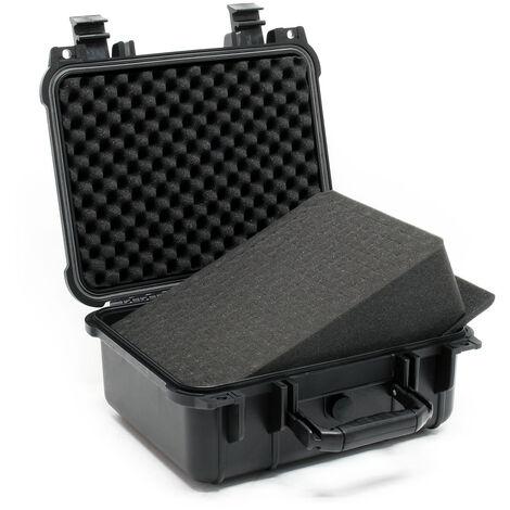 Malette de transport Noire Valise de protection Ajustable Étanche Mousse Taille M 35x29,5x15cm