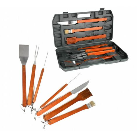 Malette D Ustensiles Pour Barbecue 6 Pieces 33417