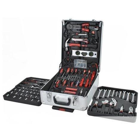 Malette valise outils en aluminium trolley 4 tiroirs