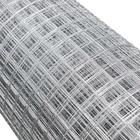 Malla alambre metálica gallinero cierre metálico galvanizado rollo 1mx25m mallado 16x16mm Jardín