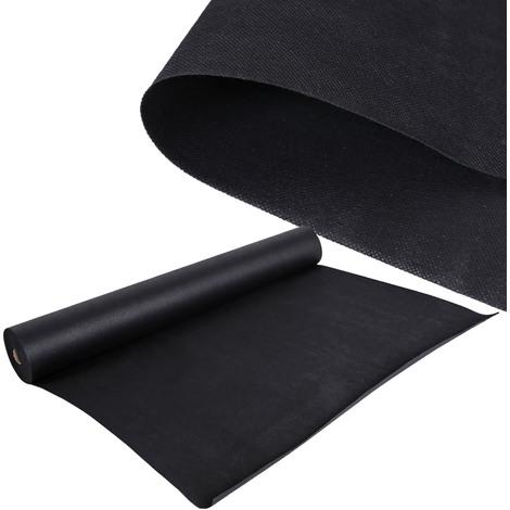 Malla antihierbas Estera de tela Tejido 30 x 1,5m para malas hierbas Jardines 150 g/m² negro