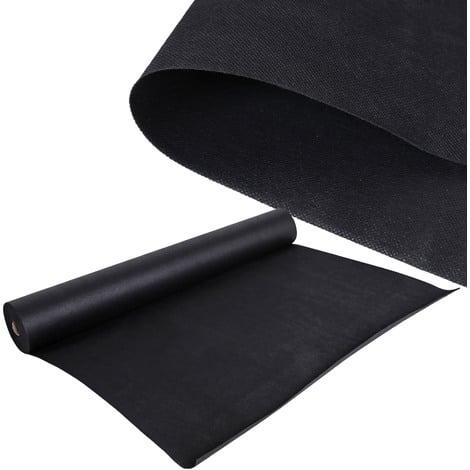 Malla antihierbas Estera de tela Tejido 40 x 1,5m para malas hierbas Jardines 150 g/m² negro