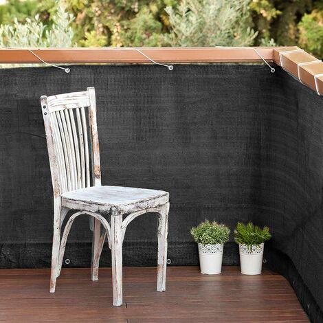 Malla Balcony Easy Antracita 0.9x5M Gris