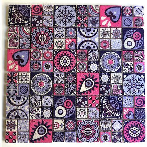 Malla baldosa piedra azulejo cocina mosaico pared baño mp-asare