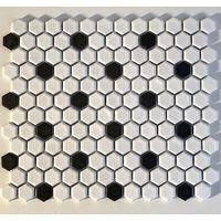 Malla baldosas de cerámica mosaico hexágono de pared y suelo mp-daven