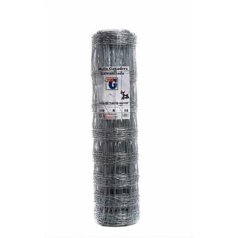 Malla Cerc Anudada 1,0x50mt Ac Galv 100-08-15 Tmg