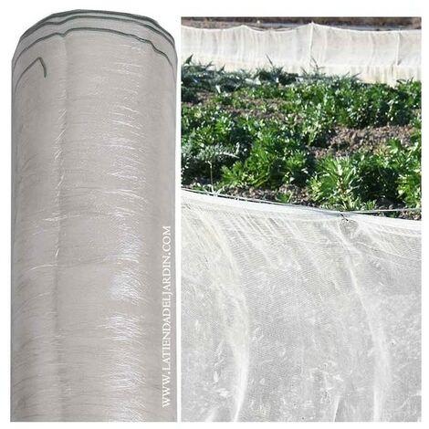 Malla cortavientos / mosquitera 1,5 x 100 m, blanca