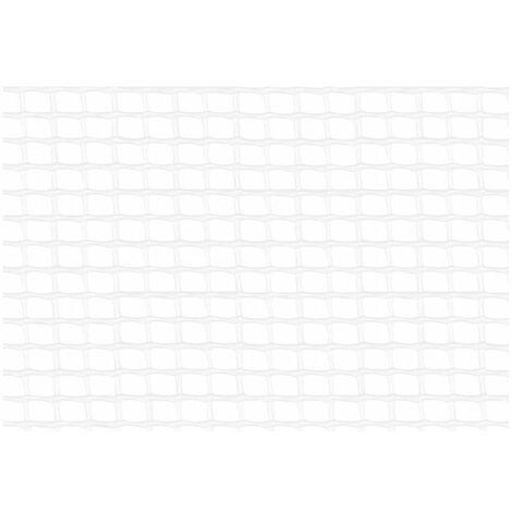 Malla cuadrada de plástico blanca 1x5m