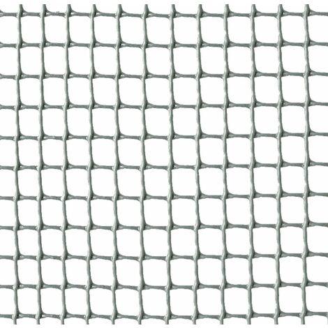 Malla cuadrada de plástico gris 1x5m