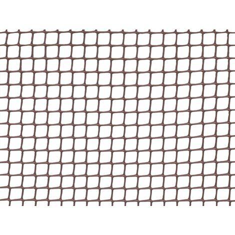 Malla cuadrada plástica rollo 5m Marrón Cuadranet Nortene
