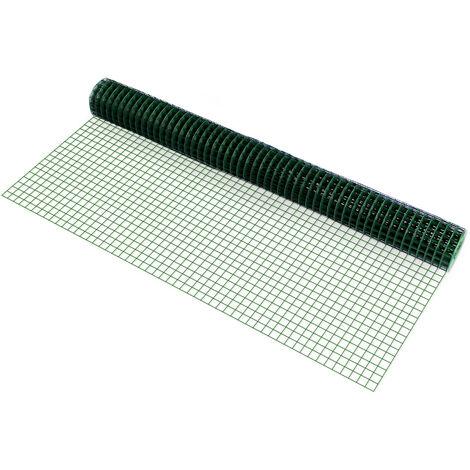 Malla de alambre (cuadrados)(1m x 5m)(verde) valla de tela metálica 1 rollo de alambre