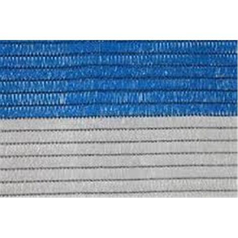 Malla de Ocultacion Bicolor - Metro lineal Azul y Blanco