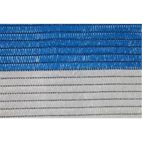 Malla de Ocultacion Bicolor - Rollo 100m Blanco y Azul