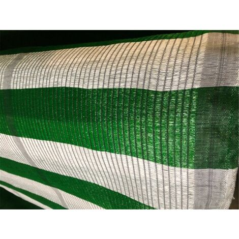 Malla de Ocultacion Bicolor - Rollo 100m Blanco y Verde