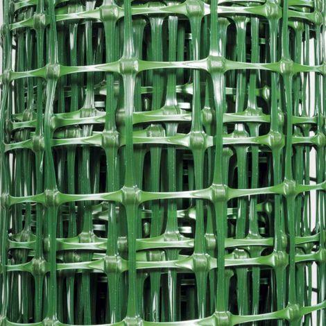 Malla de plástico verde 27x42 mm - Tamaño 1.5 x 10 m