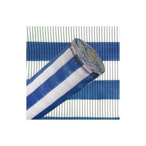Malla De Sombreo Azul blanca - Medida 4 Alto X 100 Largo