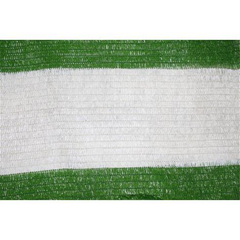 Malla de Sombreo Bicolor Verde/Blanco - Rollo 100m