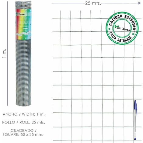 "main image of ""Malla Electrosoldada Galvanizada 50x25 / 2,00 / 100 cm. GA Rollo 25 metros"""