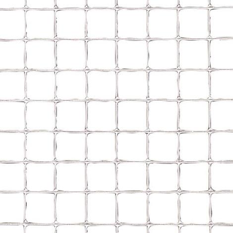 Malla electrosoldada galvanizada 50x50 / 2,00 / 80 cm. ga rollo 25 metros