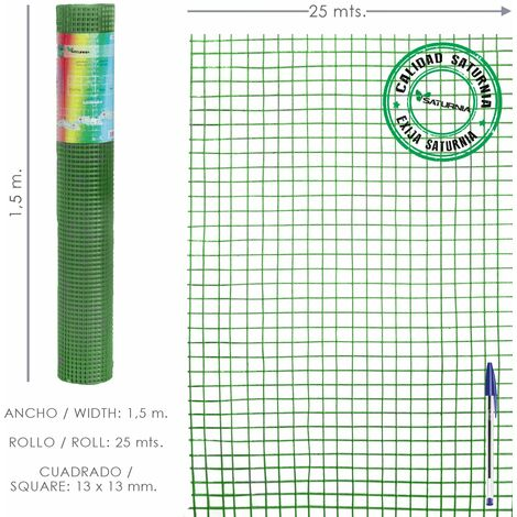 Malla Electrosoldada Plastificada Corral 13x13 / 150 cm. Rollo 25 metros
