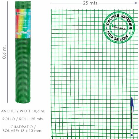 Malla Electrosoldada Plastificada Corral 13x13 / 60 cm. Rollo 25 metros