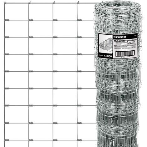 Malla ganadera de acero galvanizado, 1.20 X 50 m