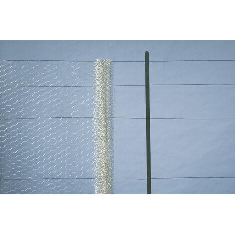 Malla metálica acero galvanizado hexagonal 1x10 Nortene GALVANEX