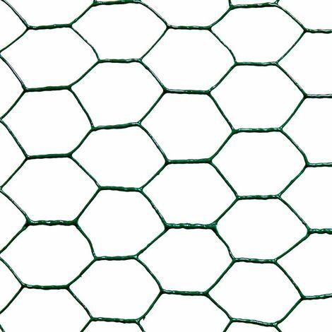 Malla metálica hexagonal plast. 25mm