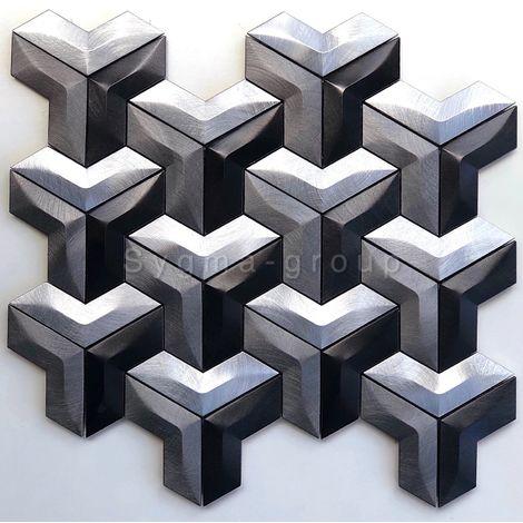 Malla mosaico de aluminio para cocina o baño modelo Daasie