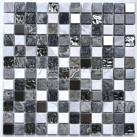 Malla mosaico de piedra y vidrio baño y ducha Willa